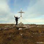 angekommen am Gipfel, des Windbergs auf 1903 m