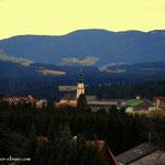 ein Blick von der Bratlalm nach Wenigzell