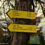 """....mein weiterer Weg entlang am Bergrücken, dem Weg 11 folgend hinüber zur """"Kanzel"""", ein toller Aussichtspunkt und Rastplatz...."""