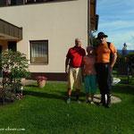 ....kurz nach der Ortstafel, der erste Besuch bei Gerhard und Ingrid, danke für den Kaffee und das erfrischende Wasser.