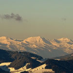 ...der Blick in die mit Schnee bedeckten Seckauer Tauern, perfekt....