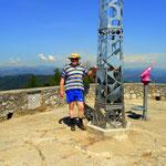die höchste Erhebung im Bezirk bzw. in Graz auf dem Plabutsch, der Fürstenstand 754 m