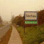 Söchau ist erreicht, noch immer im Nebel