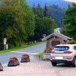 Start in Wald am Schoberpass, ein Parkplatz war bald gefunden.....
