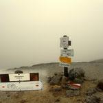 Akarscharte auf 2315 m, starker Wind, sehr frisch