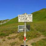 der Kromsattel (2137 m) ist geschafft