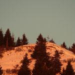 ....Hochschlag, der Gipfelbereich wird ins Sonnenlicht gehüllt....
