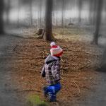 07.02.2021 - Sonntag, die richtige Zeit um mit Luis den Wald zu erkunden.....