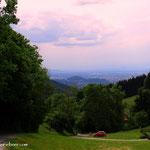 ....von hier hat man einen ersten Blick nach Graz, meine Mission fast beendet...