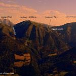 Der Blick vom Schober auf die heutige Bergtour....