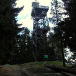 """Aussichtswarte am """"Hutwisch"""" oberhalb von Hochneukirchen"""