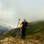 das Gufelseejoch (2375 m), ist erreicht