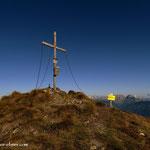 ....kurz danach den Gipfel erreicht, Himmeleck (2096 m), alles cool.....