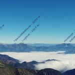 Blick nach Norden mit Gipfelnamen