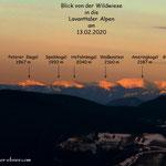 Im Februar dieses Jahres ein Blick in die Lavanttaler Alpen.....