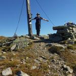 am Gipfel des Seckauer Zinken - 2397 m, Sicht perfekt
