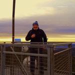 ....frisch, da oben auf dem Aussichtsturm, jedoch die Sicht.....