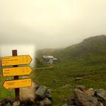 Giglachseehütte  ist nun geschafft, jetzt geht es weiter auf die Akarscharte