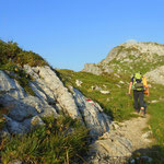 mein Weg führt mich zum Almajurjoch 2237 m, hinunter zum Kapallsattel.....