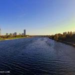 ...am Georg Danzer Steg auf das linke Donauufer gewechselt und mich nach Floridsdorf begeben...