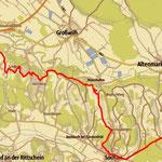 Meine heutige Tour, 21 km und 395 hm