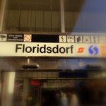 ....das Ende meiner Wandertage, Bahnhof Floridsdorf. Das Leben ist schön.