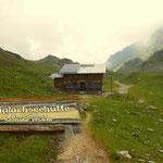wieder bei der Giglachseehütte, jetzt in die warme Hütte auf eine gute Jause