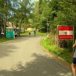 die Grenze ist erreicht, jetzt rüber nach Slowenien