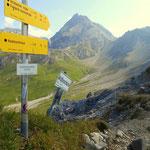 von der Kridlonscharte 2371 m, ein Blick zurück zum Hinterseejoch