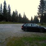 Start am Parkplatz der Edelrautehütte