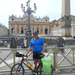 am Ziel, der Petersplatz ist erreicht, 1133 km in 10 Tagen, alles cool