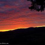 Aufbruch meiner heutigen Wanderung mit der Morgendämmerung.....