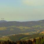 Blick zum Kulm (links) und dem Ausläufer des Rabenwaldkogels