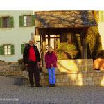 """....an der Kirche in St. Anna am Aigen ist unser """"Weinweg der Sinne"""" beendet. Jetzt geht es zum Hendlwirt nach Kalch..."""