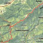 """....somit dies die heutige Etappe. Der Steirische Voralpenweg """"740"""" ist für mich nun ebenfalls abgeschlossen."""