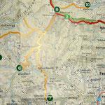 Tour von Tag 1, Karte aus der Wanderkarte von Alpannonia