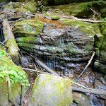 kleine Wasserfälle, leider sehr wenig Wasser