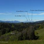 ....ein Blick ins Slowenische Grenzland, bis hin zum Petzen...