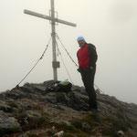 Am Gipfel des Geierhaupt (2417 m) höchste Erhebung im Bezirk Leoben
