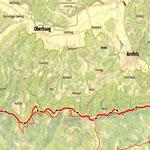 die heutige Etappe, die Dritte am Südalpenweg