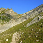 ...hinauf zum Hinterseejoch auf 2482 m
