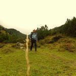 ...führt mich der Weg über die Spulleralpe, Tal auswärts....