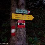 ....beim Radhof geht es nun endlich runter von der Straße....
