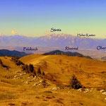 vom Freschenhaus hat man einen tollen Blick auf das Rheintal, Feldkirch, Oberriet (Schweiz) und die erste Berge auf der Schweizerseite...
