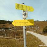 jetzt geht es hinunter über dem Farfel - Felsensteig nach Neuberg an der Mürz