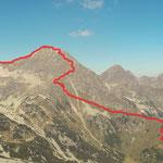Ich habe versucht hier die Tour darzustellen, da doch ein Großteil der Strecke erkennbar ist. Im Bereich Gr. Bösenstein ist die Linie vielleicht nicht ganz okay. Blickrichtung vom Gr. Hengst