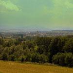 ein Blick zurück auf St. Leonhard am Forst