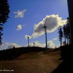 ...bis zum Windpark, am Pongratzen....