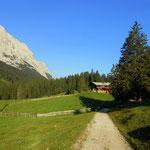 Gaistalalm (1366 m), weiter geht der Weg.....