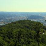ein Blick Richtung Stadt und Hubertushöhe
